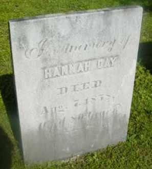 DAY, HANNAH - Berkshire County, Massachusetts | HANNAH DAY - Massachusetts Gravestone Photos