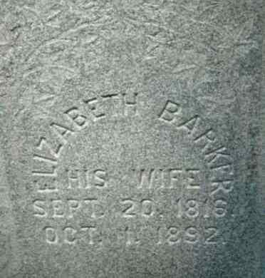 BARKER, ELIZABETH - Berkshire County, Massachusetts | ELIZABETH BARKER - Massachusetts Gravestone Photos