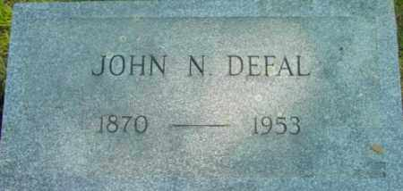 DEFAL, JOHN N - Berkshire County, Massachusetts | JOHN N DEFAL - Massachusetts Gravestone Photos
