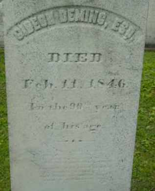 DEMING, GIDEON - Berkshire County, Massachusetts | GIDEON DEMING - Massachusetts Gravestone Photos