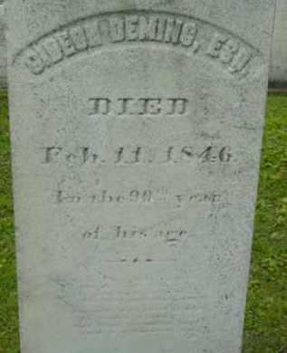 DEMING, GIDEON - Berkshire County, Massachusetts | GIDEON DEMING - Massachusetts Gravestone Photos