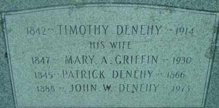 DENEHY, JOHN W - Berkshire County, Massachusetts | JOHN W DENEHY - Massachusetts Gravestone Photos