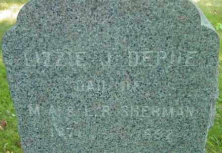 SHERMAN, LIZZIE J - Berkshire County, Massachusetts | LIZZIE J SHERMAN - Massachusetts Gravestone Photos