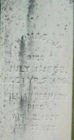 DERMADY, THOMAS - Berkshire County, Massachusetts   THOMAS DERMADY - Massachusetts Gravestone Photos