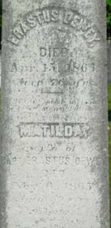 DEWEY, MATILDA - Berkshire County, Massachusetts | MATILDA DEWEY - Massachusetts Gravestone Photos