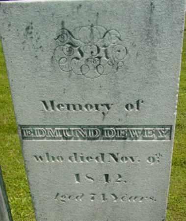 DEWEY, EDMUND - Berkshire County, Massachusetts | EDMUND DEWEY - Massachusetts Gravestone Photos