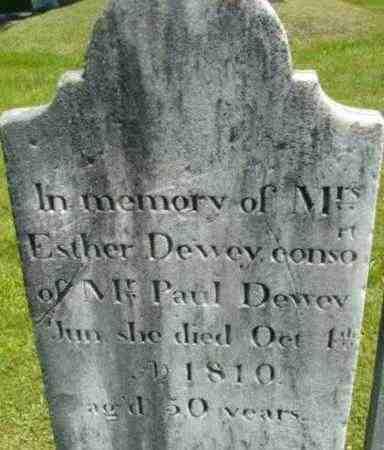 DEWEY, ESTHER - Berkshire County, Massachusetts | ESTHER DEWEY - Massachusetts Gravestone Photos