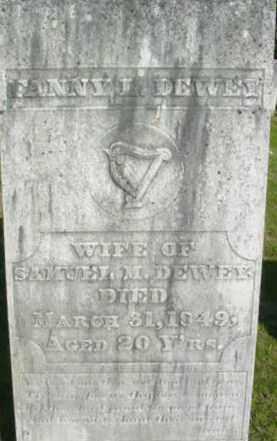 DEWEY, FANNY L - Berkshire County, Massachusetts | FANNY L DEWEY - Massachusetts Gravestone Photos