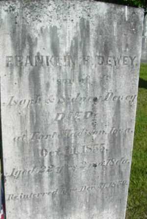 DEWEY, FRANKLIN H - Berkshire County, Massachusetts | FRANKLIN H DEWEY - Massachusetts Gravestone Photos