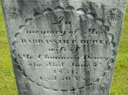 DEWEY, HADDASSAH P - Berkshire County, Massachusetts | HADDASSAH P DEWEY - Massachusetts Gravestone Photos