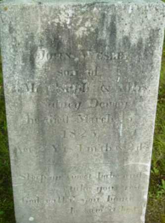 DEWEY, JOHN WESLEY - Berkshire County, Massachusetts | JOHN WESLEY DEWEY - Massachusetts Gravestone Photos