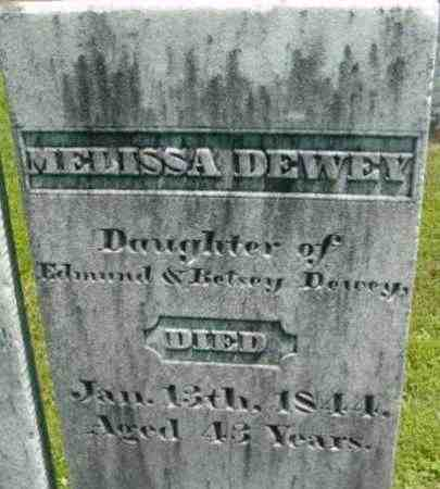 DEWEY, MELISSA - Berkshire County, Massachusetts   MELISSA DEWEY - Massachusetts Gravestone Photos