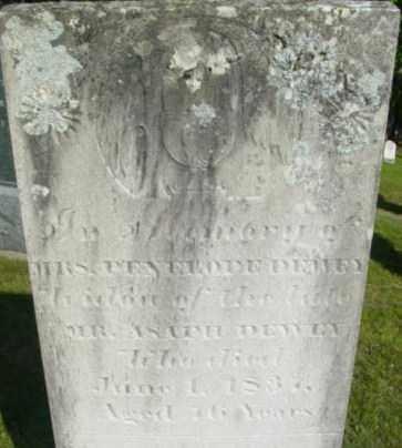 DEWEY, PENELOPE - Berkshire County, Massachusetts   PENELOPE DEWEY - Massachusetts Gravestone Photos