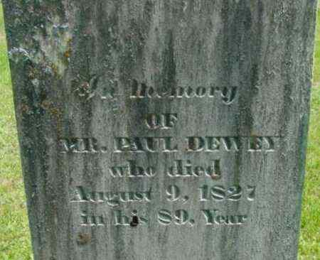 DEWEY, PAUL - Berkshire County, Massachusetts | PAUL DEWEY - Massachusetts Gravestone Photos