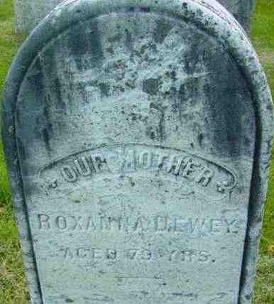 DEWEY, ROXANNA - Berkshire County, Massachusetts   ROXANNA DEWEY - Massachusetts Gravestone Photos