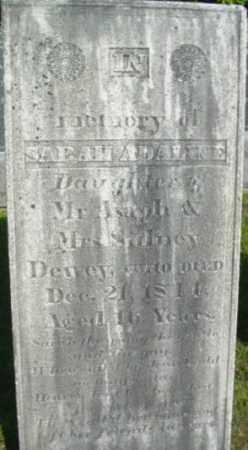DEWEY, SARAH ADALINE - Berkshire County, Massachusetts   SARAH ADALINE DEWEY - Massachusetts Gravestone Photos