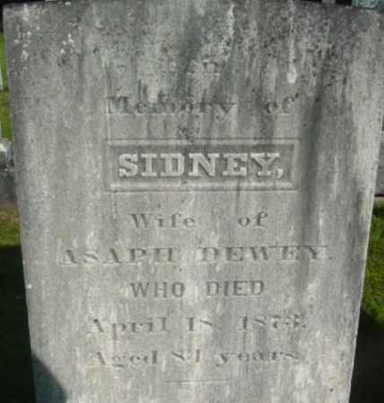 DEWEY, SIDNEY - Berkshire County, Massachusetts   SIDNEY DEWEY - Massachusetts Gravestone Photos