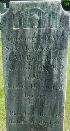 DEWEY, SUSE - Berkshire County, Massachusetts | SUSE DEWEY - Massachusetts Gravestone Photos