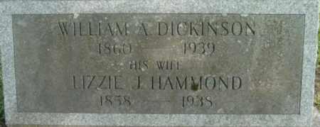 DICKINSON, WILLIAM A - Berkshire County, Massachusetts | WILLIAM A DICKINSON - Massachusetts Gravestone Photos