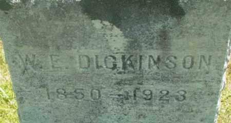 DICKINSON, W E - Berkshire County, Massachusetts | W E DICKINSON - Massachusetts Gravestone Photos