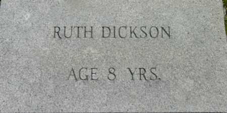 DICKSON, RUTH - Berkshire County, Massachusetts | RUTH DICKSON - Massachusetts Gravestone Photos