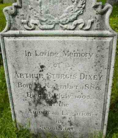 DIXEY, ARTHUR STURGIS - Berkshire County, Massachusetts | ARTHUR STURGIS DIXEY - Massachusetts Gravestone Photos