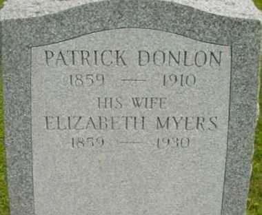 DONLON, PATRICK - Berkshire County, Massachusetts | PATRICK DONLON - Massachusetts Gravestone Photos