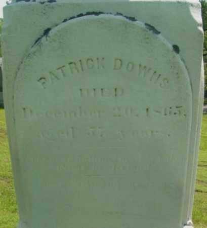 DOWNS, PATRICK - Berkshire County, Massachusetts | PATRICK DOWNS - Massachusetts Gravestone Photos
