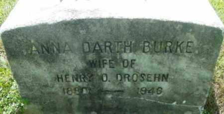 BURKE, ANNA DARTH - Berkshire County, Massachusetts   ANNA DARTH BURKE - Massachusetts Gravestone Photos