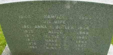 BUTLER, ANNA S - Berkshire County, Massachusetts | ANNA S BUTLER - Massachusetts Gravestone Photos