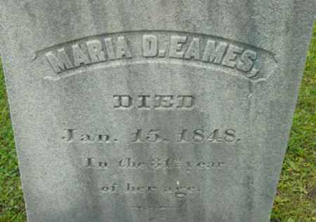 EAMES, MARIA D - Berkshire County, Massachusetts | MARIA D EAMES - Massachusetts Gravestone Photos