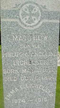 EICHELSER, MATTHEW - Berkshire County, Massachusetts | MATTHEW EICHELSER - Massachusetts Gravestone Photos