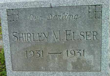 ELSER, SHIRLEY M - Berkshire County, Massachusetts | SHIRLEY M ELSER - Massachusetts Gravestone Photos