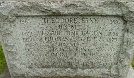 ERNY, ELIZABETH B - Berkshire County, Massachusetts | ELIZABETH B ERNY - Massachusetts Gravestone Photos