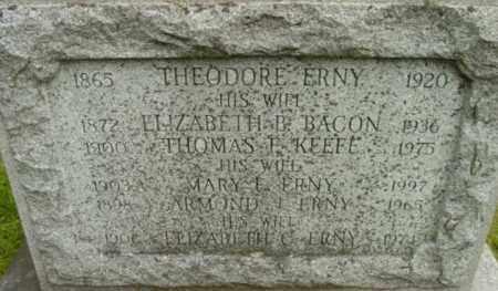 ERNY KEEFE, MARY F - Berkshire County, Massachusetts   MARY F ERNY KEEFE - Massachusetts Gravestone Photos