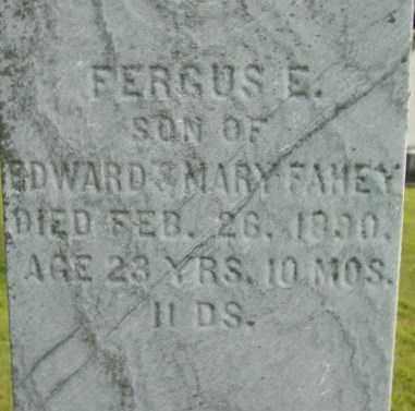 FAHEY, FERGUS E - Berkshire County, Massachusetts | FERGUS E FAHEY - Massachusetts Gravestone Photos