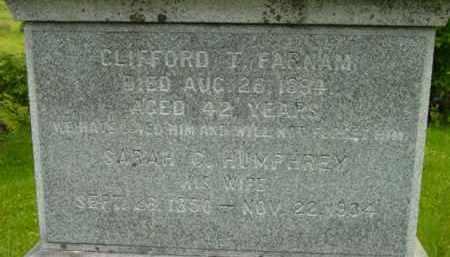 FARNAM, SARAH C - Berkshire County, Massachusetts | SARAH C FARNAM - Massachusetts Gravestone Photos