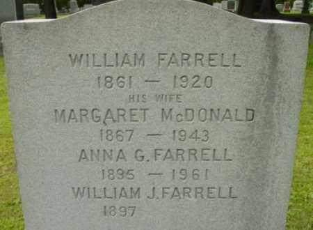 FARRELL, ANNA G - Berkshire County, Massachusetts | ANNA G FARRELL - Massachusetts Gravestone Photos