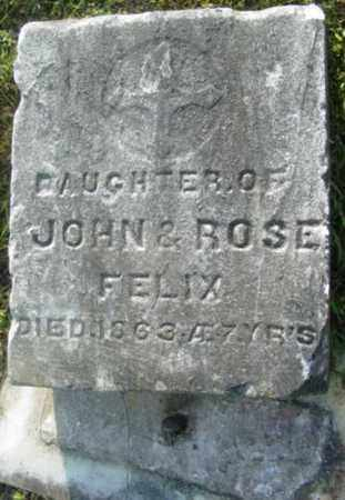 FELIX, DAUGHTER - Berkshire County, Massachusetts | DAUGHTER FELIX - Massachusetts Gravestone Photos