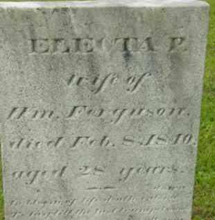 FERGUSON, ELECTA PHILENA - Berkshire County, Massachusetts   ELECTA PHILENA FERGUSON - Massachusetts Gravestone Photos