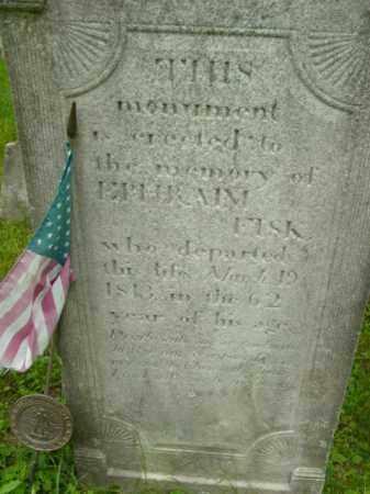 FISK, EPHRAIM - Berkshire County, Massachusetts | EPHRAIM FISK - Massachusetts Gravestone Photos