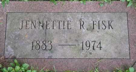 FISK, JENNETTE R - Berkshire County, Massachusetts | JENNETTE R FISK - Massachusetts Gravestone Photos