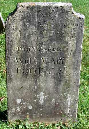 FOOT, MARY - Berkshire County, Massachusetts | MARY FOOT - Massachusetts Gravestone Photos