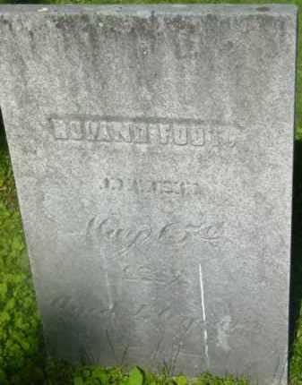 FOOT, ROLAND - Berkshire County, Massachusetts   ROLAND FOOT - Massachusetts Gravestone Photos