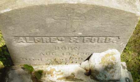 FORD, ALFRED F - Berkshire County, Massachusetts | ALFRED F FORD - Massachusetts Gravestone Photos
