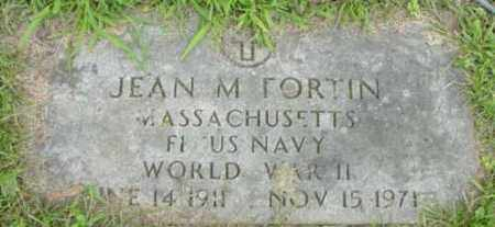 FORTIN (WWII), JEAN M - Berkshire County, Massachusetts | JEAN M FORTIN (WWII) - Massachusetts Gravestone Photos