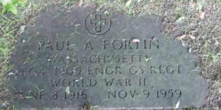 FORTIN, PAUL A - Berkshire County, Massachusetts   PAUL A FORTIN - Massachusetts Gravestone Photos