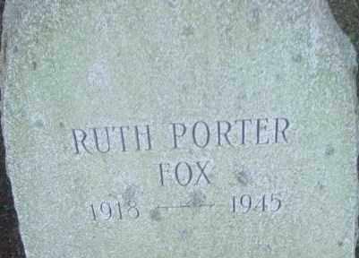 PORTER, RUTH - Berkshire County, Massachusetts | RUTH PORTER - Massachusetts Gravestone Photos