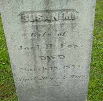 FOX, SUSAN M - Berkshire County, Massachusetts   SUSAN M FOX - Massachusetts Gravestone Photos
