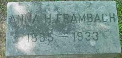 FRAMBACH, ANNA H - Berkshire County, Massachusetts | ANNA H FRAMBACH - Massachusetts Gravestone Photos